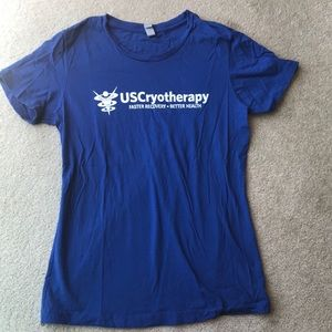 US cryotherapy royal blue s/s large t shirt
